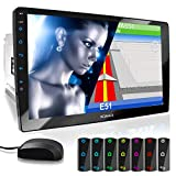 XOMAX XM-2VN1003 Autoradio mit verstellbarem XXL Touchscreen Bildschirm (10'/25 cm) I Mirrorlink I GPS Navigation I Bluetooth I Anschlüsse für externes Mikrofon und Rückfahrkamera I RDS I USB I 2 DIN