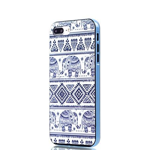 iPhone 8 Plus Coque, Voguecase 2 in 1 TPU + PC avec Absorption de Choc, Etui Silicone Souple Transparent, Légère / Ajustement Parfait Coque Shell Housse Cover pour Apple iPhone 8 Plus 5.5 (Jeune coupl Éléphant