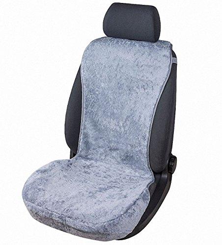 kuschelweiche Universal Lammfell Autositz Auflage grau für alle PKW, Sommer + Winter, 100{1c7ffc8be926fb618c70453deab3ac7414a4035a7e77f0d8e3b1d696d603f36a} australische Lammfelle