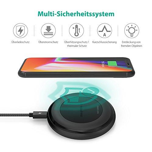 518qQrfxG0L - [Amazon] RAVPower Qi kabelloses Ladegerät für iPhone X/8/8 Plus für nur 29,99€ statt 39,99€