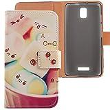 Lankashi PU Flip Leder Tasche Hülle Case Cover Schutz Handy Etui Skin Für Alcatel One Touch Pop Star 5070D 4G 5' Lovely Design