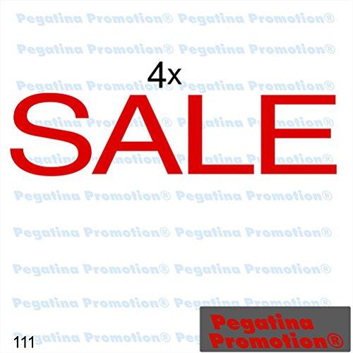 """Preisvergleich Produktbild 4er Set Aufkleber """"SALE"""" Prozente Schaufenster Reduziert Ausverkauf Schlussverkauf WSV SSV Typ 14ca. 60 cm Aufkleber Sticker Schaufensterwerbung Werbung Deko von Pegatina Promotion ®"""