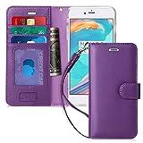 FYY Coque iPhone 6S Plus, Coque iPhone 6 Plus, [Séries Haut de Gamme] Housse Portefeuille Protecteur en Cuir véritable pour Apple iPhone 6S Plus/6 Plus Violet