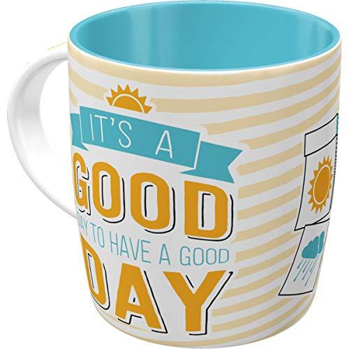 Nostalgic-Art 43027 Retro Kaffee-Becher Word Up - Good Day, Lustige große Tasse mit Spruch, Geschenk-Idee für Vintage-Liebhaber, 330 ml