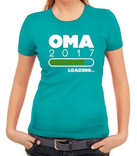 Geschenkidee Damen T-Shirt mit Oma 2017 Loading... Motiv von ShirtStreet karibikblau