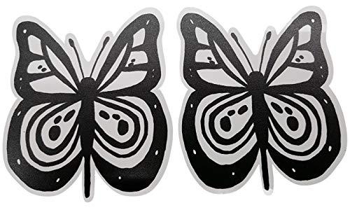 Reparatur Patch in Form von Magneten - modische Reparatursets anstatt Aufkleber und Folien - viele Magnete zur Auswahl (1 Satz Schmetterling schwarz-weiß)