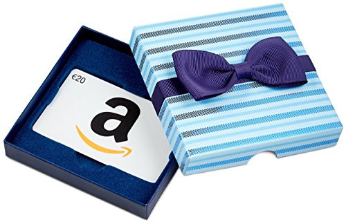 Amazon.de Geschenkgutschein in Geschenkbox - 20 EUR (Blaue Streifen)