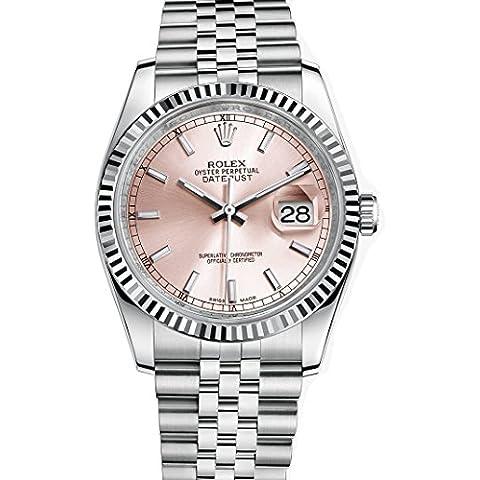 Rolex Datejust 36 orologio, in acciaio INOX, con quadrante 116234, colore: rosa