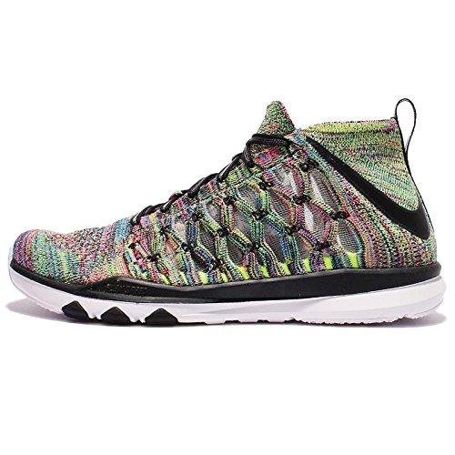 Nike Train Ultrafast Flyknit, Chaussures de Randonnée Homme Amarillo (Volt / White-Pink Blast)