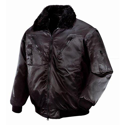 teXXor Piloten Oslo Arbeitsjacke mit abnehmbaren Ärmeln, XL, schwarz, 4176 (Feuerfeste Jacke)