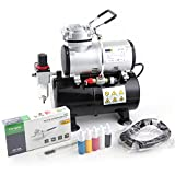 Airbrush Set Fengda FD-186K with compressor FD-186, Airbrush BD-130 and accessories