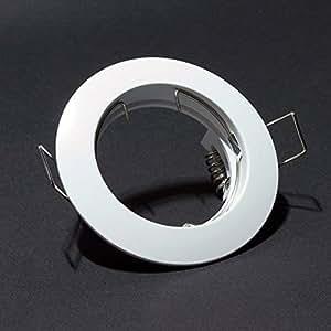 coupelle support pour spot encastrable fixe douille gu10 led ronde couleur blanche diam tre. Black Bedroom Furniture Sets. Home Design Ideas