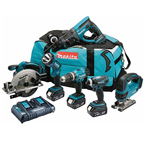 Makita DLX6017PM Cordless Li-ion Kit, 6 pc. by Makita (Sds Hammer Cordless)