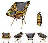 ZXH Klappstuhl Camping Hocker Sitz Angeln Freizeit Skizze Rückenlehne Klappstuhl (Farbe : Gelb)