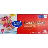 Berkley Jensen Professional Kunststoff Wrap mit Cutter Slide 3000Fuß x 45,7cm Food Service Film 12 Inch