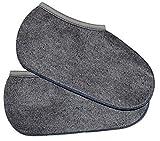 2 Paar Stiefelsocken sogenannte Rosshaarsocken Grau Made in Germany, Farbe:Grau;Größe:39-40