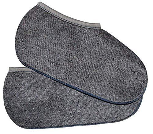 2 Paar Stiefelsocken sogenannte Rosshaarsocken Grau Made in Germany, Farbe:Grau;Größe:39-40 - Laminat-einlage