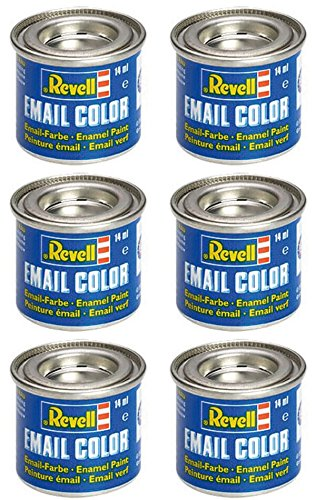 6 Revell 14ml Email Farben für Modellbau - Sie können die Farben wählen (Modell-spray-farbe Blau)