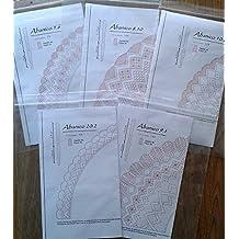 Conjunto de patrones de abanicos para encaje de bolillos