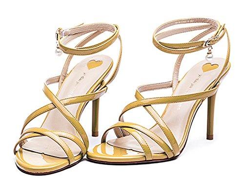 defc6c2260c ChunSe Women s Summer high Heel Sandals