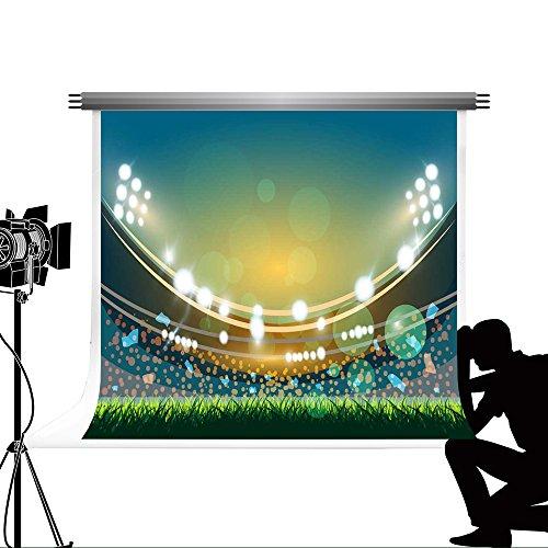 Kate Cartoon Fußball Field Foto Booth Custom Grassland Hintergründen Requisiten für grün FOTOGRAFIA Professionelle Fotografie Hintergrund 7 x 5ft/2,2 x 1,5 (Fußball Foto Prop)