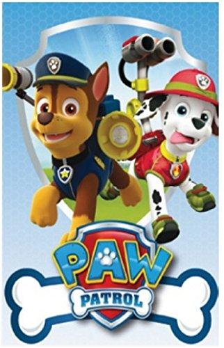 """Manta de forro polar suave Paw Patrol de """"La patrulla canina"""", 150 cm x 100 cm, producto oficial"""
