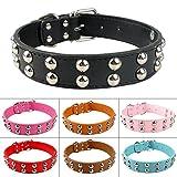 SkyRam (TM) 7 Farben 2 Gr??e der neuen Marken-verzierte weiche Leder Hundehundehalsband Hals f¨¹r 15-20