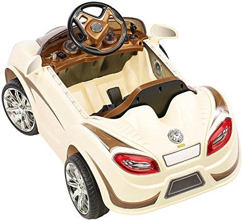 RC Auto kaufen Kinderauto Bild 2: Playtastic Kinderelektroauto: Edles Elektro-Kinderfahrzeug mit Fernsteuerung (Kinderauto)*