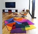 Coloré tapis salon table basse canapé chambre chevet enfants chambre étude salle tapis, tapis fait main personnalisé (taille : 140 * 200cm)...