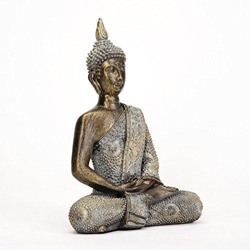 Muttermui MUI Wohnkultur Garten Dekor Thai Buddha Deko Figur Buddhismus Skulptur Budda Statue Feng Shui Glück Joga Garden Decor