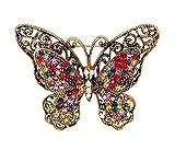 Emorias 1 Pcs Broschen für Damen Elegante Dekoration Kleidung Modeschmuck Mode Schmuck Accessoires Herren Geschenk 5.1 * 4CM Schmetterling