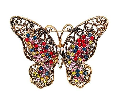 Wicemoon Broche de Mariposa Retro Para Accesorios de Decoración de Ramillete de Bodas 5.0 * 4.1cm