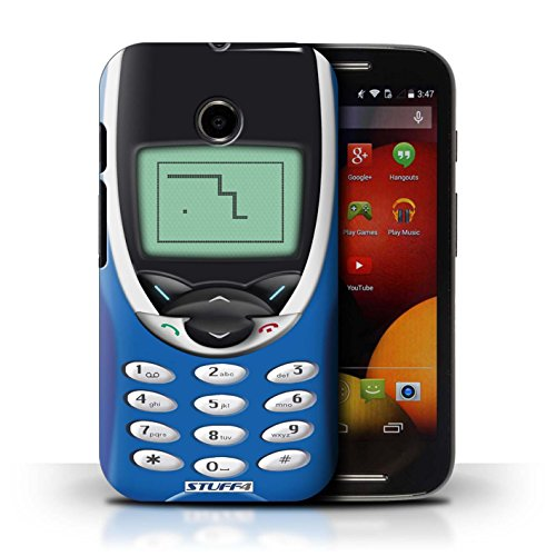 Kobalt® Imprimé Etui / Coque pour Motorola Moto E (2014) / Nokia 8210 chaux conception / Série Portables rétro Nokia 8210 bleu