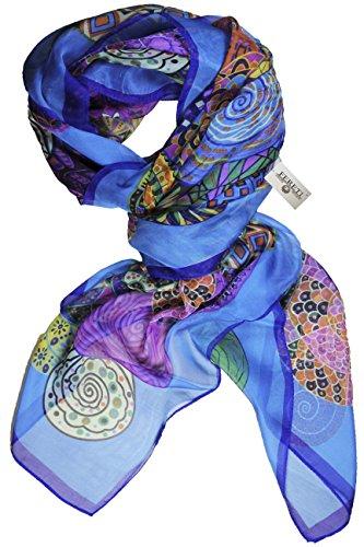 FERETI Sciarpa Donna sottile Turchese Blu colorato