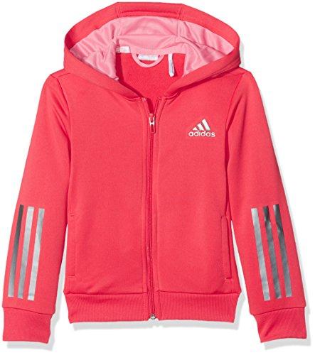 adidas Mädchen YG FZ Hoody, Core Pink/Easy Pink/Iron Metallic, 152