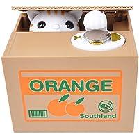 Preisvergleich für INHDBOX Elektronische Spardose Katze in der Kiste, Sparbüchse, Sparschwein, Gelddose