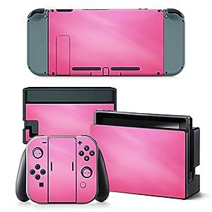 Nintendo Switch Skin Design Foils Aufkleber Schutzfolie Set – Pink Motiv