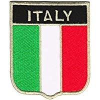 Bandera Escudo de Italia Italy Emblema Parches Para Ropa, Parches Bordados Parche Termoadhesivo Iron on Patches Sew on Patches Aplicación Apliques Mochila Bolso Jeans Chaqueta Sombrero Backpack Jacket Hat Hoodie – Treasure-Quest