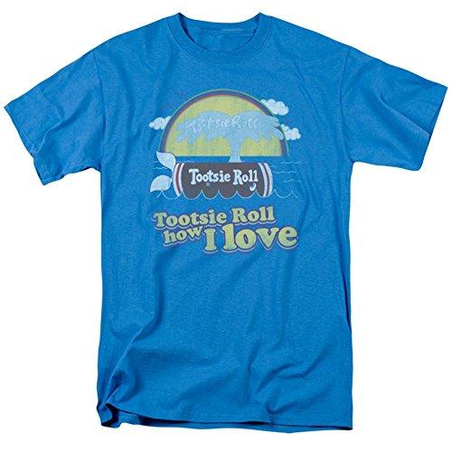 -Shirt Roll Chocolate Candy Jingle Tootsie Whale How I Love - Blau - Mittel ()