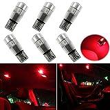 Ralbay 6X Auto Keilförmig Glühlampe T10 501 194 5630 6SMD Standlicht Lampe Innenbeleuchtung Rote