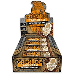 Grenade Carb Killa High Protein And Low Carb Barre Nutritive Caramel Chaos 12 x 60 g