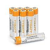 Wiederaufladbare Batterien, TYBATT NiMH Akku AAA Mignon 1000mAh hochkapazitiv Hohe Kapazität ohne Memory-Effekt Profi Digital Kamera-Akkubatterie 8er Pack