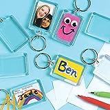 100 porte-clés transparents avec espace pour photos ou images de 50X35mm  Porte-clés Cadre Photo50X35mm transparent acrylique