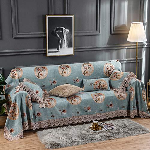 HAOLY Chenille Sofa Abdecken, All-Inclusive Sofa Stoff, Volle Deckung Sofabezug, Aus Stoff Sofa Handtuch, Leder Sofa Kissen Abdeckung-i 180x200cm(71x79inch) -
