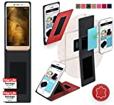 Coolpad Modena 2 Hülle Cover Case in Rot Leder -
