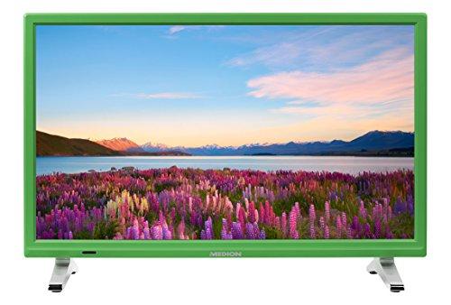 MEDION P13500 54,6 cm (21,5 Zoll Full HD) Fernseher (Triple Tuner, DVB-T2 HD, USB, HDMI, CI+, Mediaplayer) Grün -