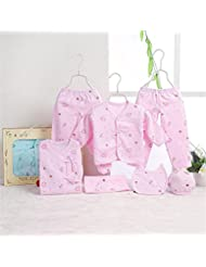 SHISHANG Boîte cadeau pour bébés Ensemble cadeau pour bébé 100% en coton pur Ensemble cadeau pour bébé (jeu de 7 pièces) Boy Girl Four Seasons pour bébé de 0 à 1 an
