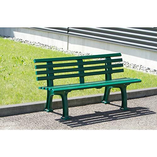 Parkbank aus Kunststoff, Weiß – Gartenbank - 2