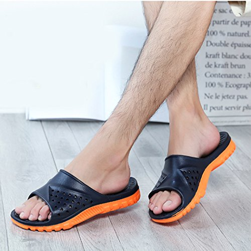 Badezimmer Hausschuhe, outgeek 1 Pair Startseite Sandalen Anti Rutsch EVA Bad Hausschuhe für Männer Navy Blue
