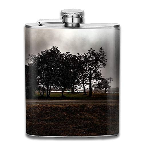 iuitt7rtree Spooky Zombies Dark Portable Stainless Steel Flagon Liquor Flask